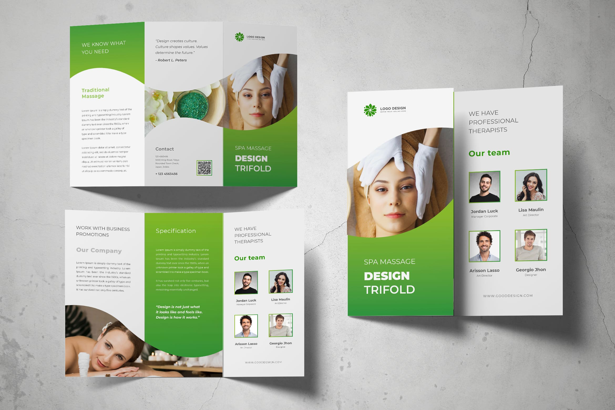 Trifold Brochure - Professional Massage Services