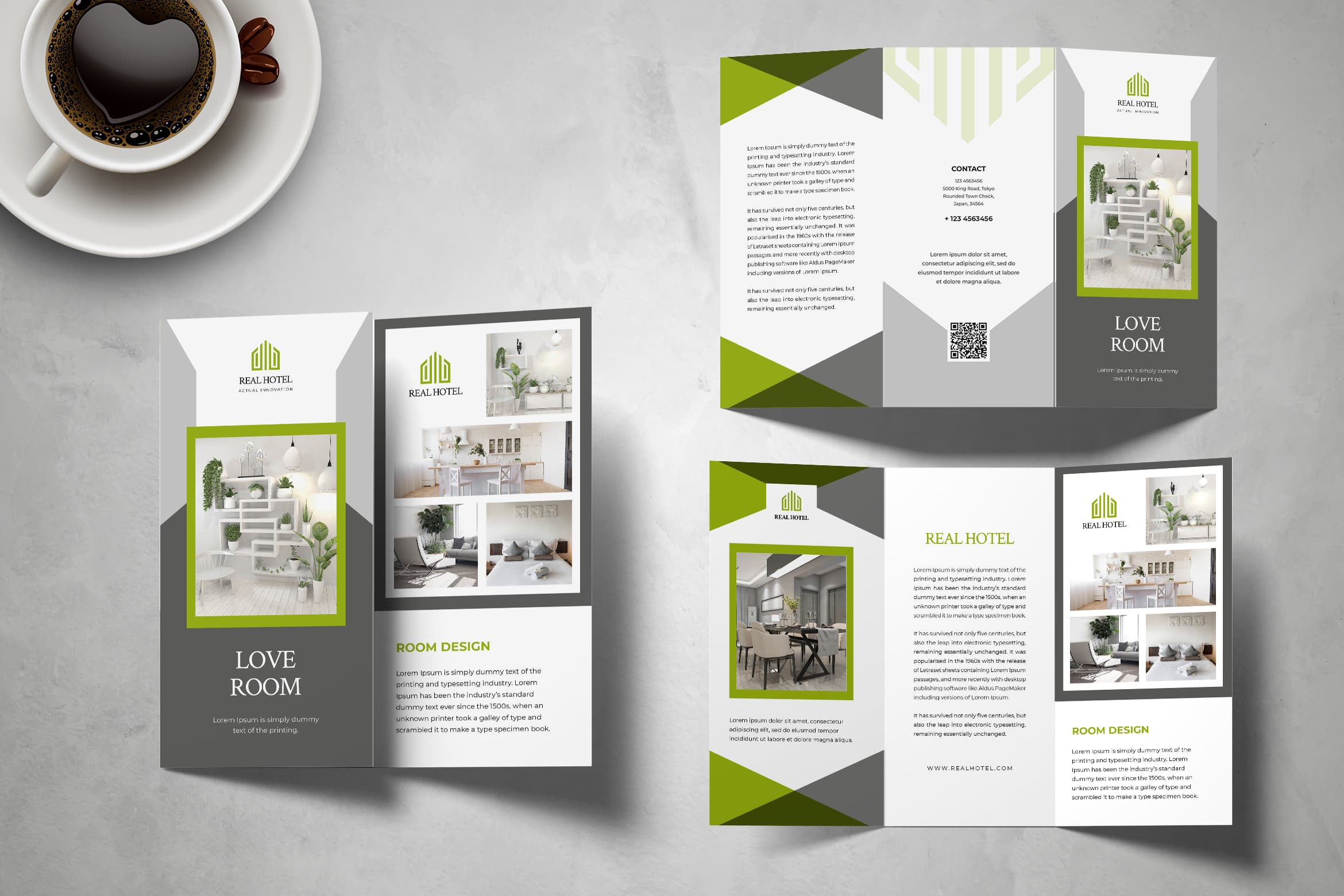 Trifold Brochure - Hotel Room Services