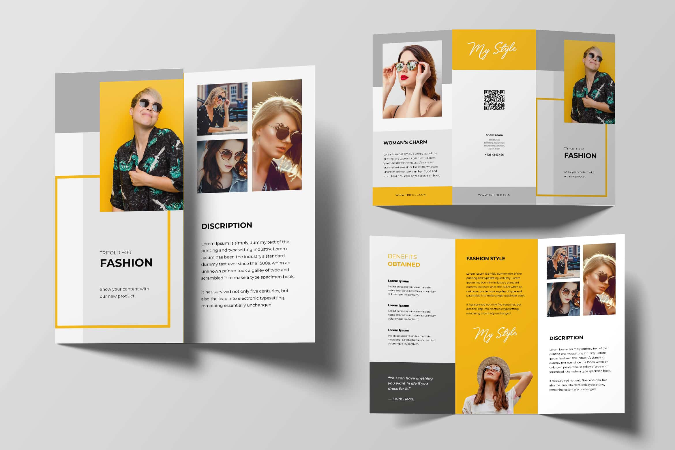 Trifold Brochure - Fashion Women Style