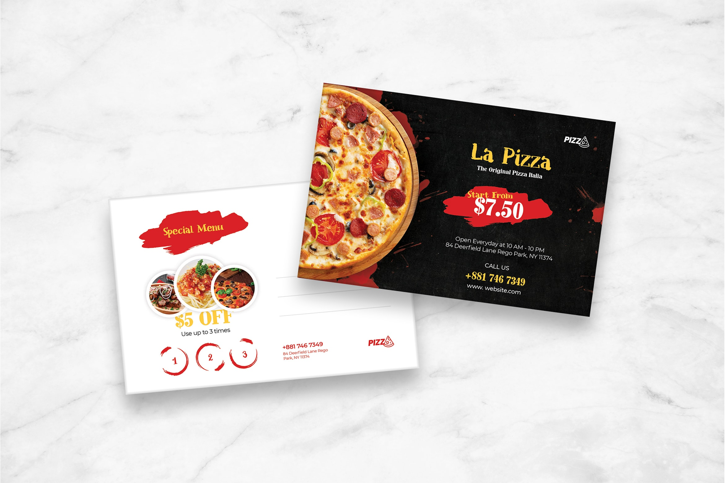Postcard - Original Pizza