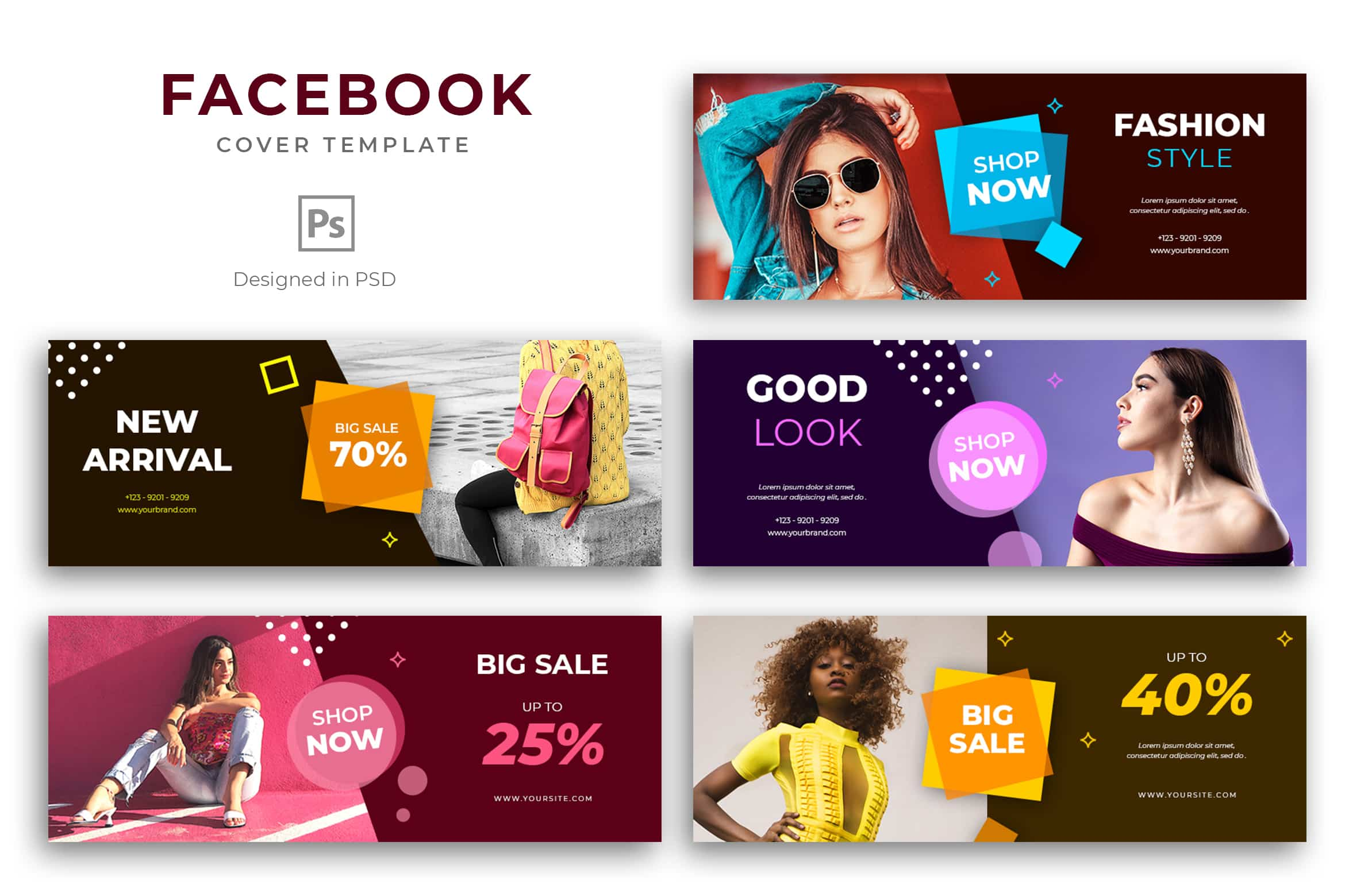 Facebook Cover - Modern Fashion Shop