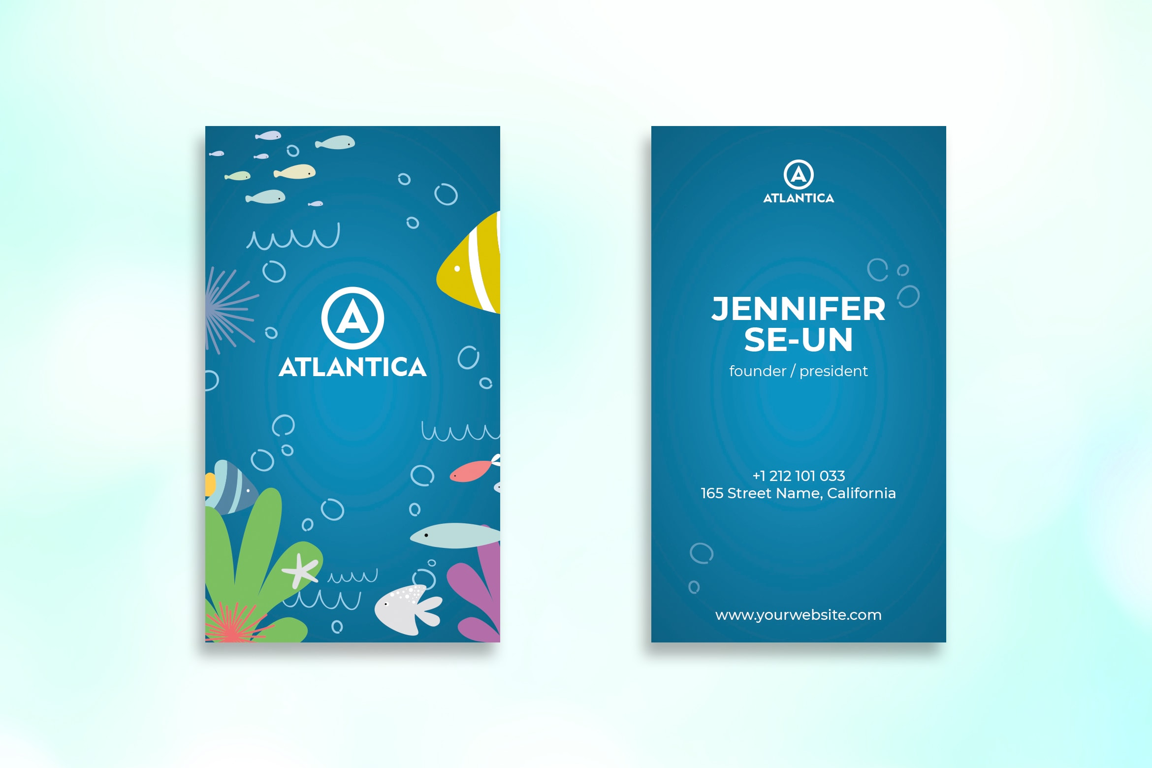 Business Card - Blue Sea Template