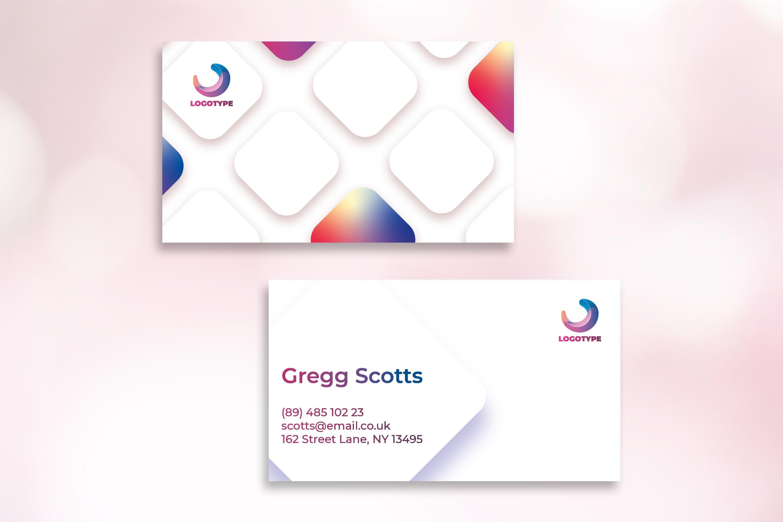 Business Card - Clean Rectangular Template