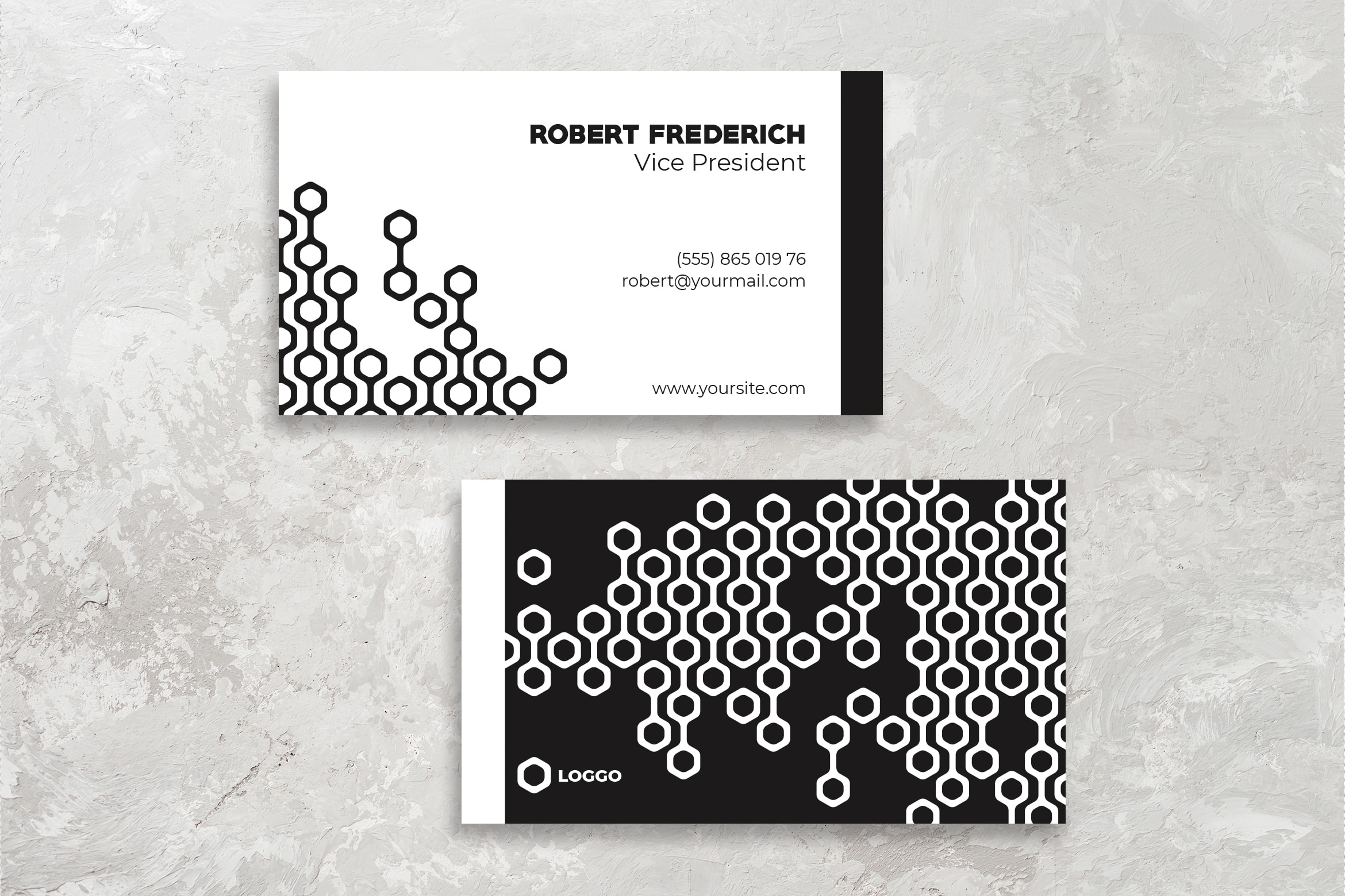 Business Card - Black White Template
