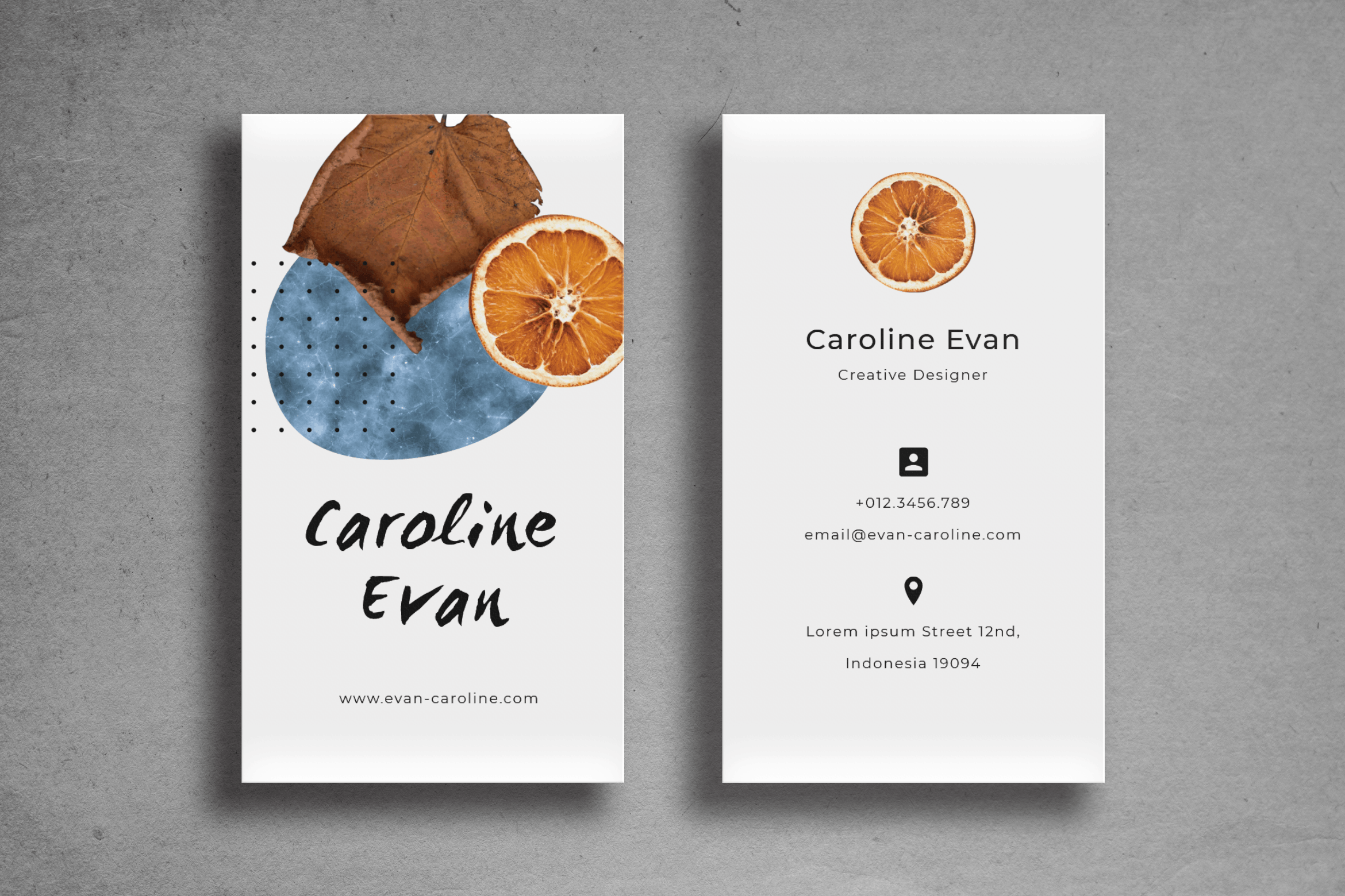 Business Card - Gray Template