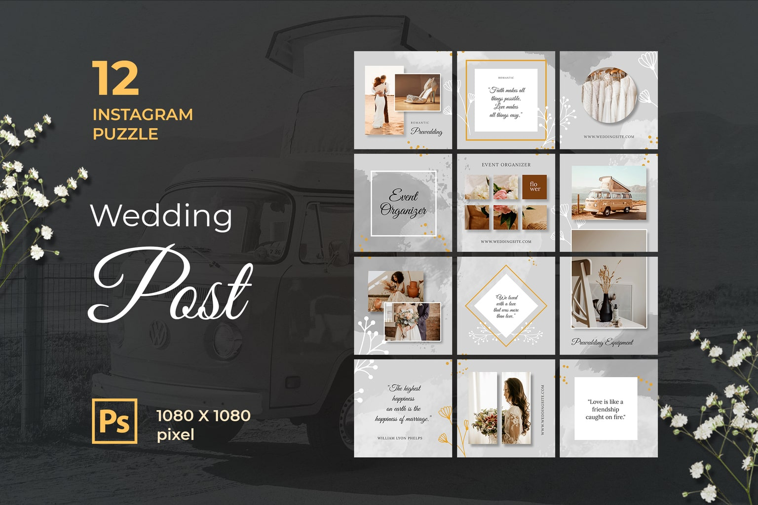 Instagram Puzzle - Wedding Post