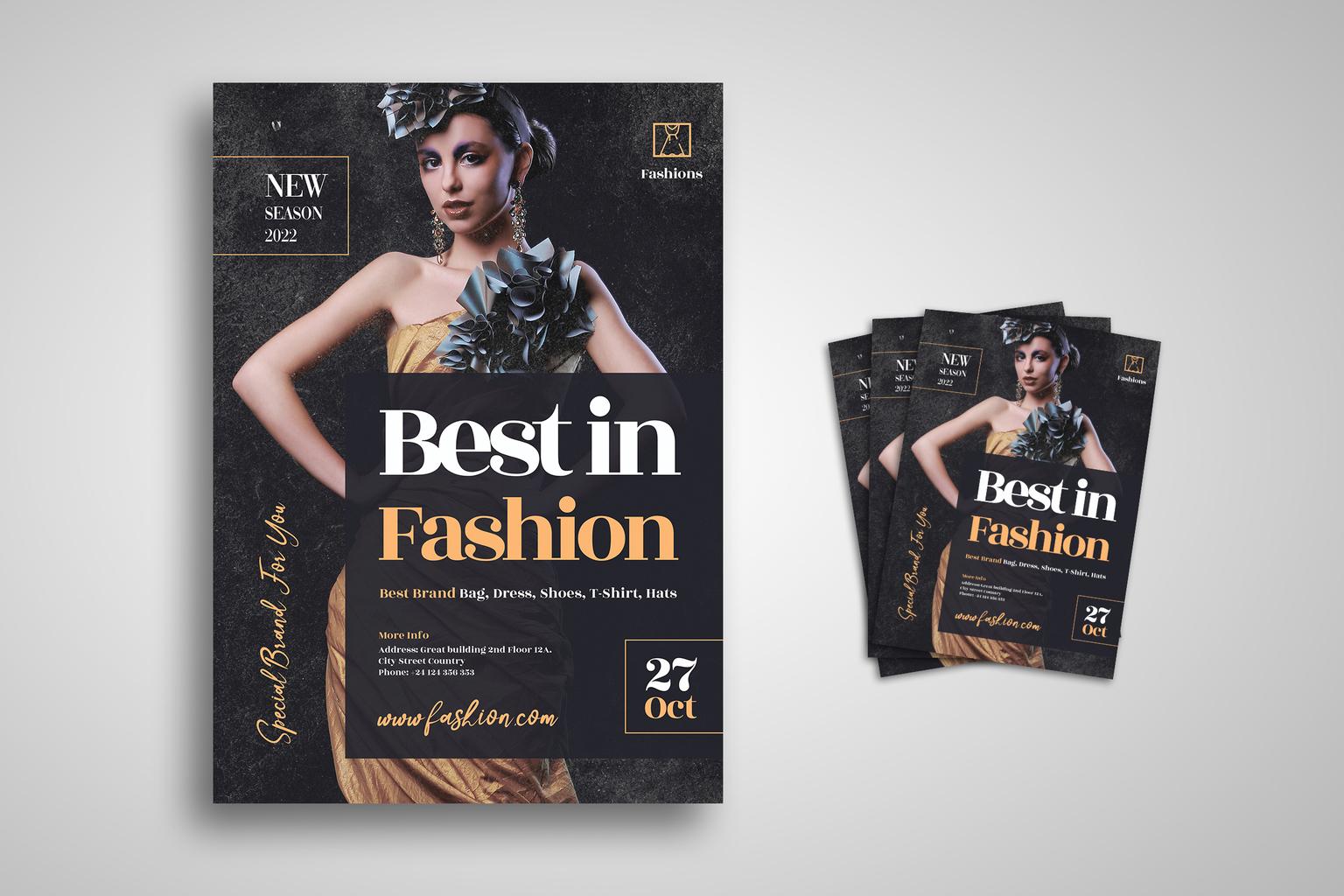 Flyer Template - Best Fashion & Dress
