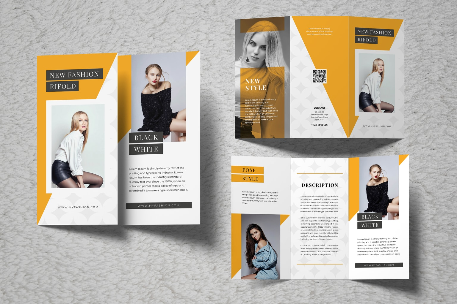 trifold brochure new women s fashion