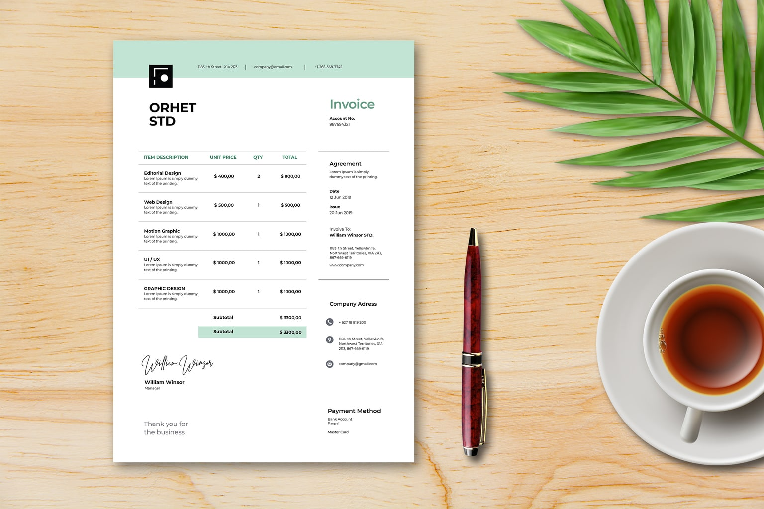 Invoice - Digital Creative