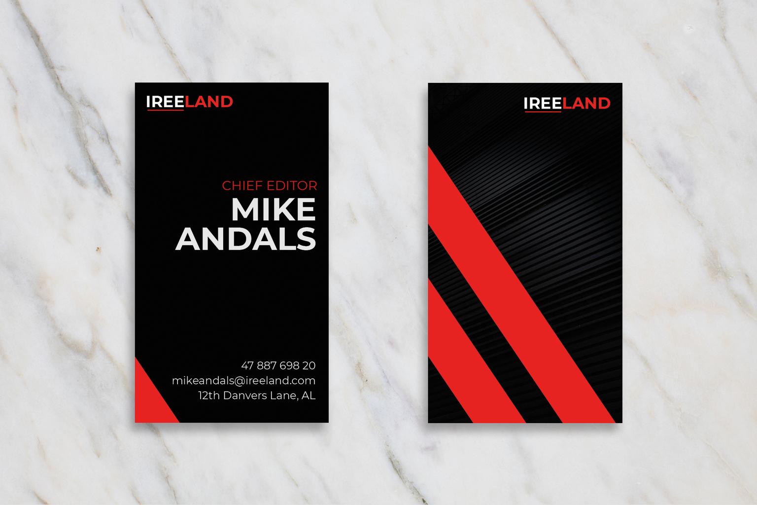 Business Card - Chief Editor Identity