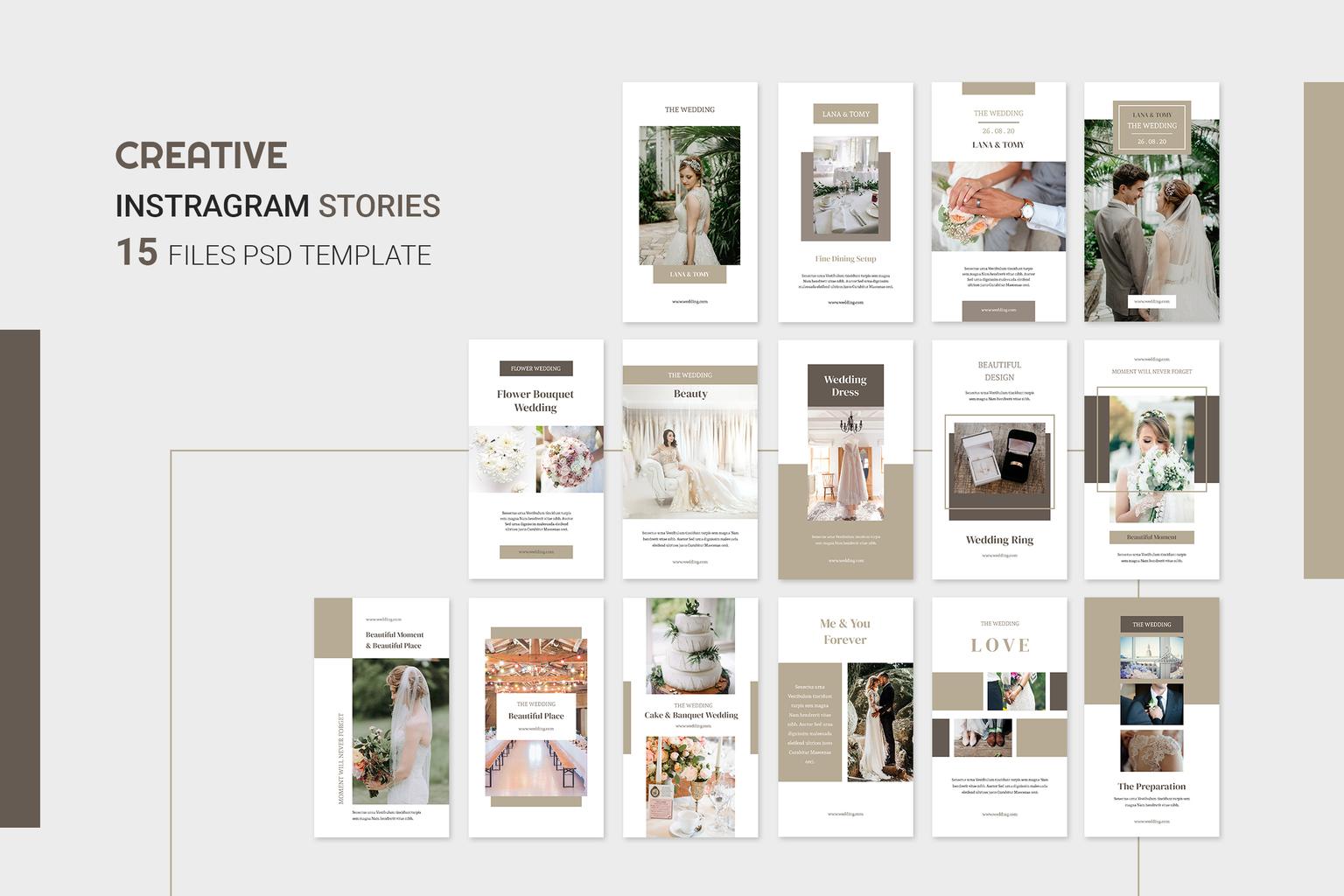 Instagram Stories - Wedding Activity