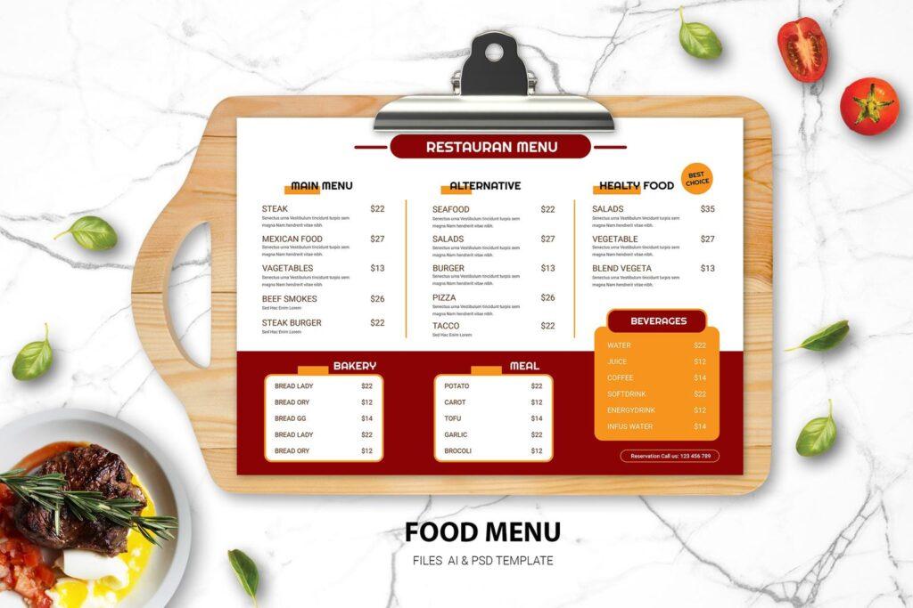 Food Menu – Western Kitchen