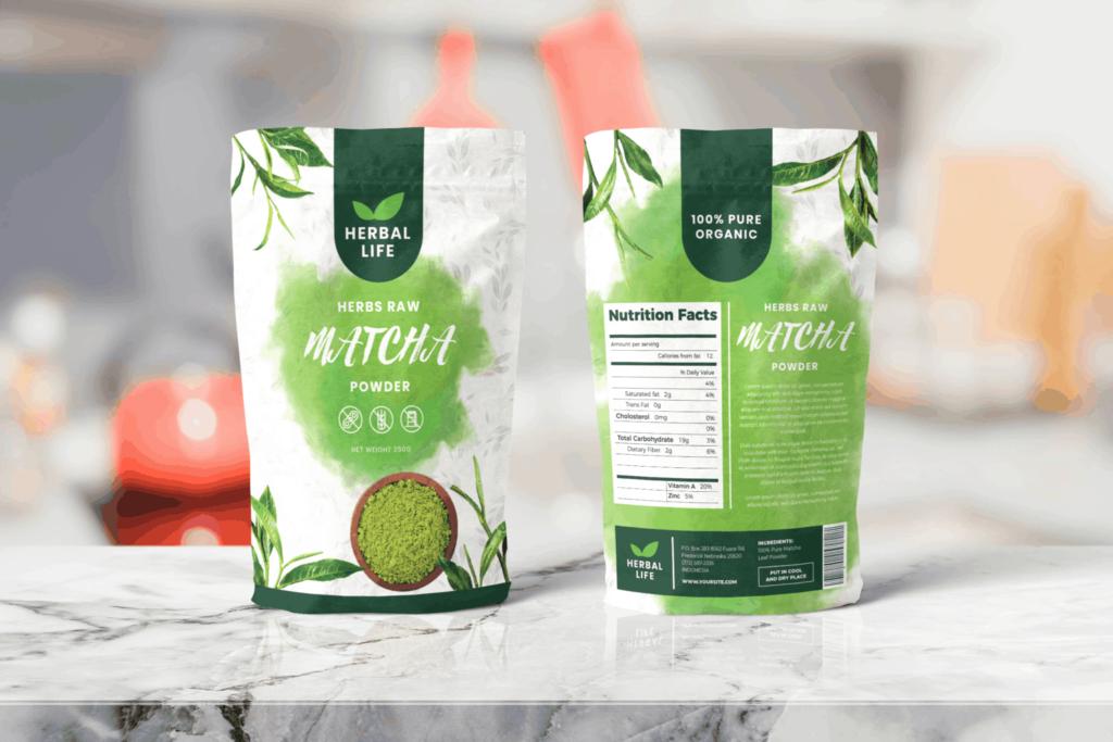 Packaging Template – Matcha Powder
