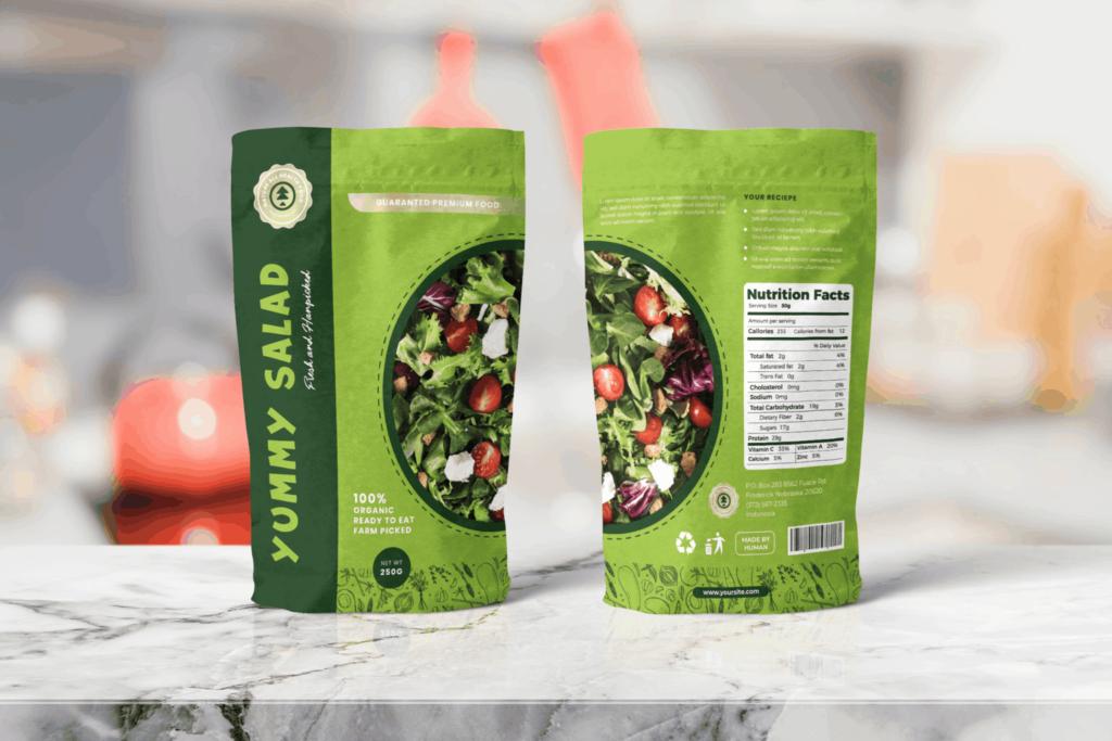 Packaging Template – Healthy Salad