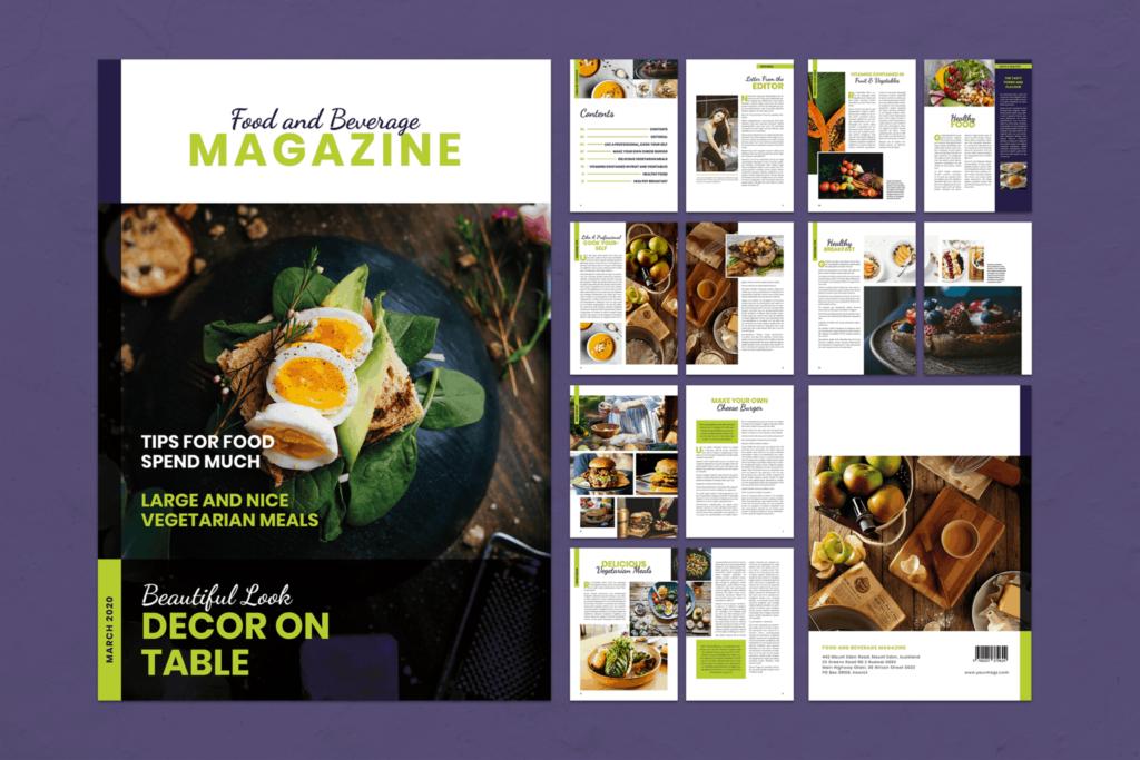 Magazine Template – Food & Beverage