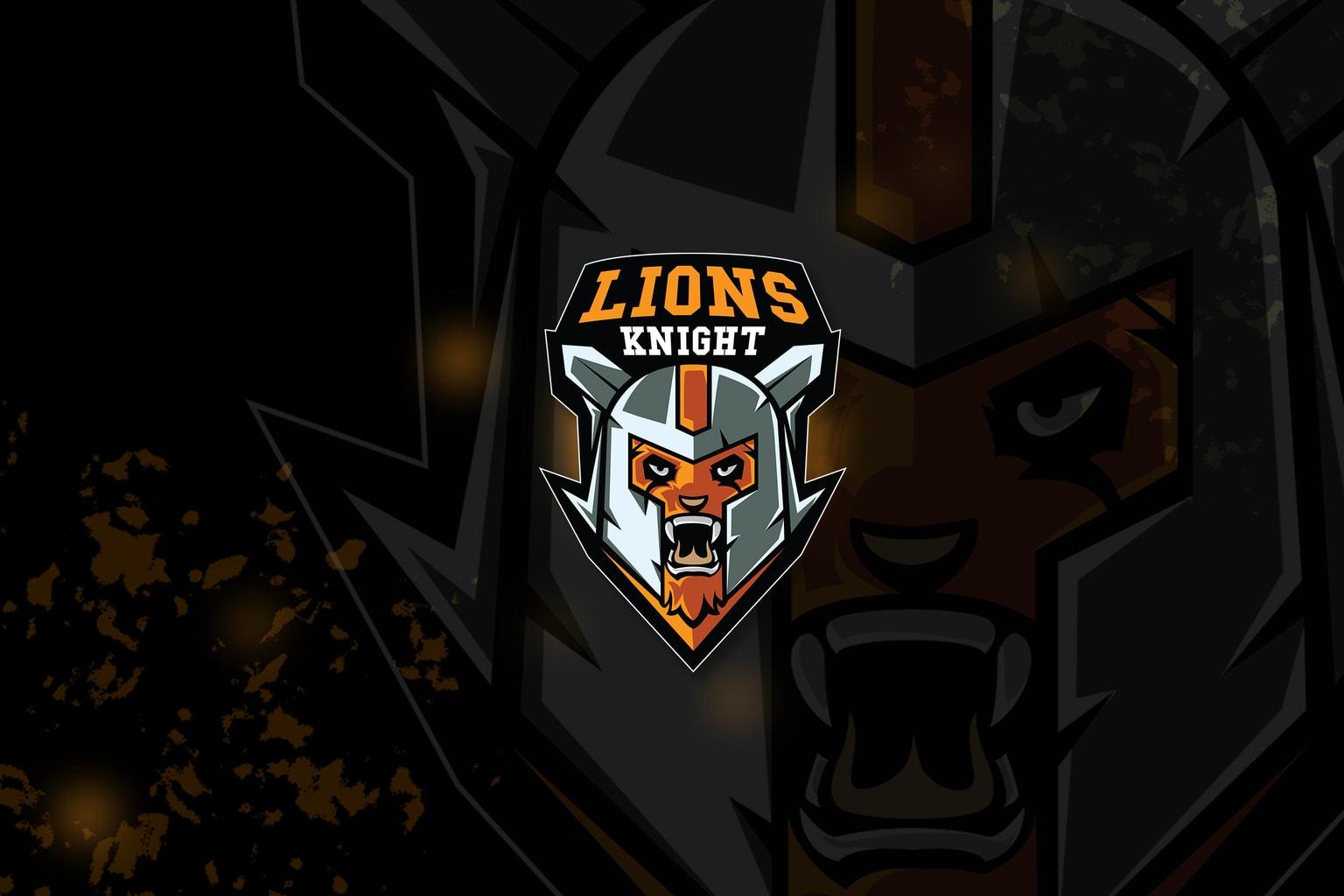 esport logo – lion knight