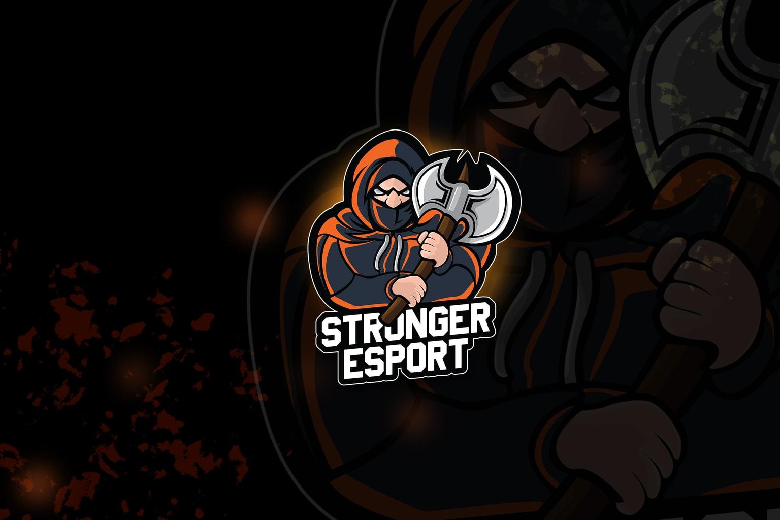 esport logo – stronger knight