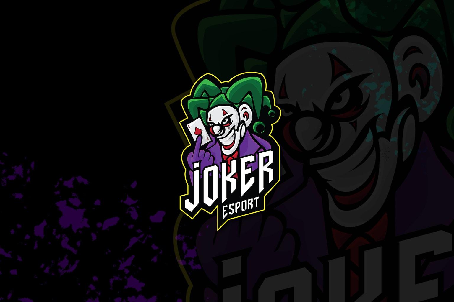 esport logo – evil joker