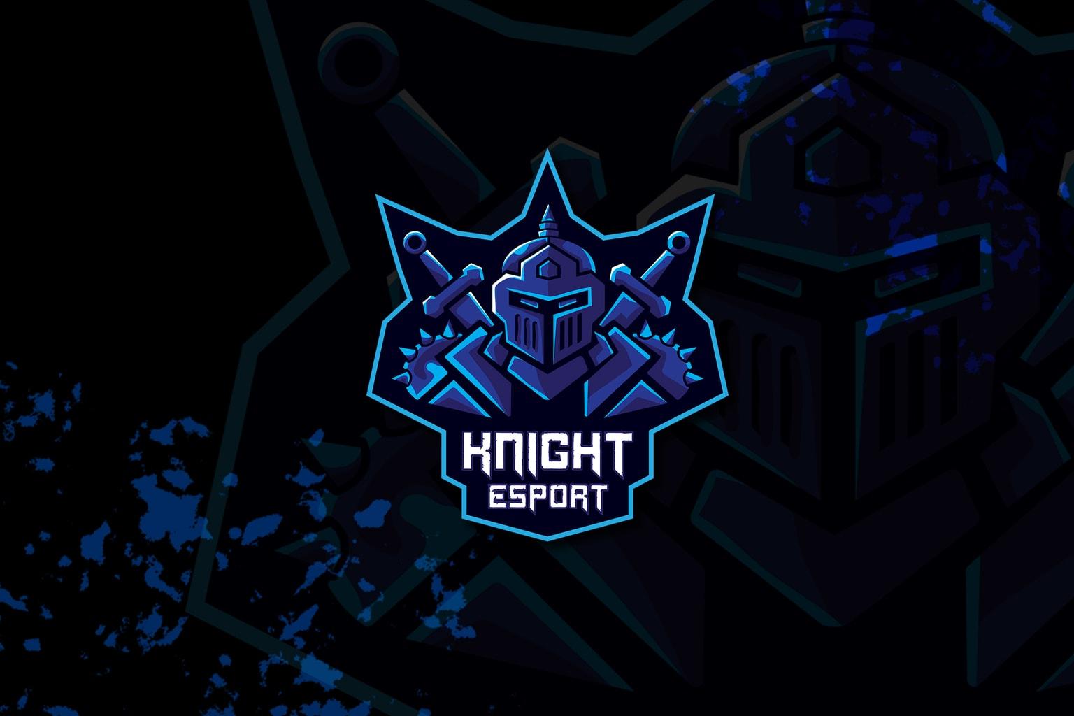 esport logo – blue knight