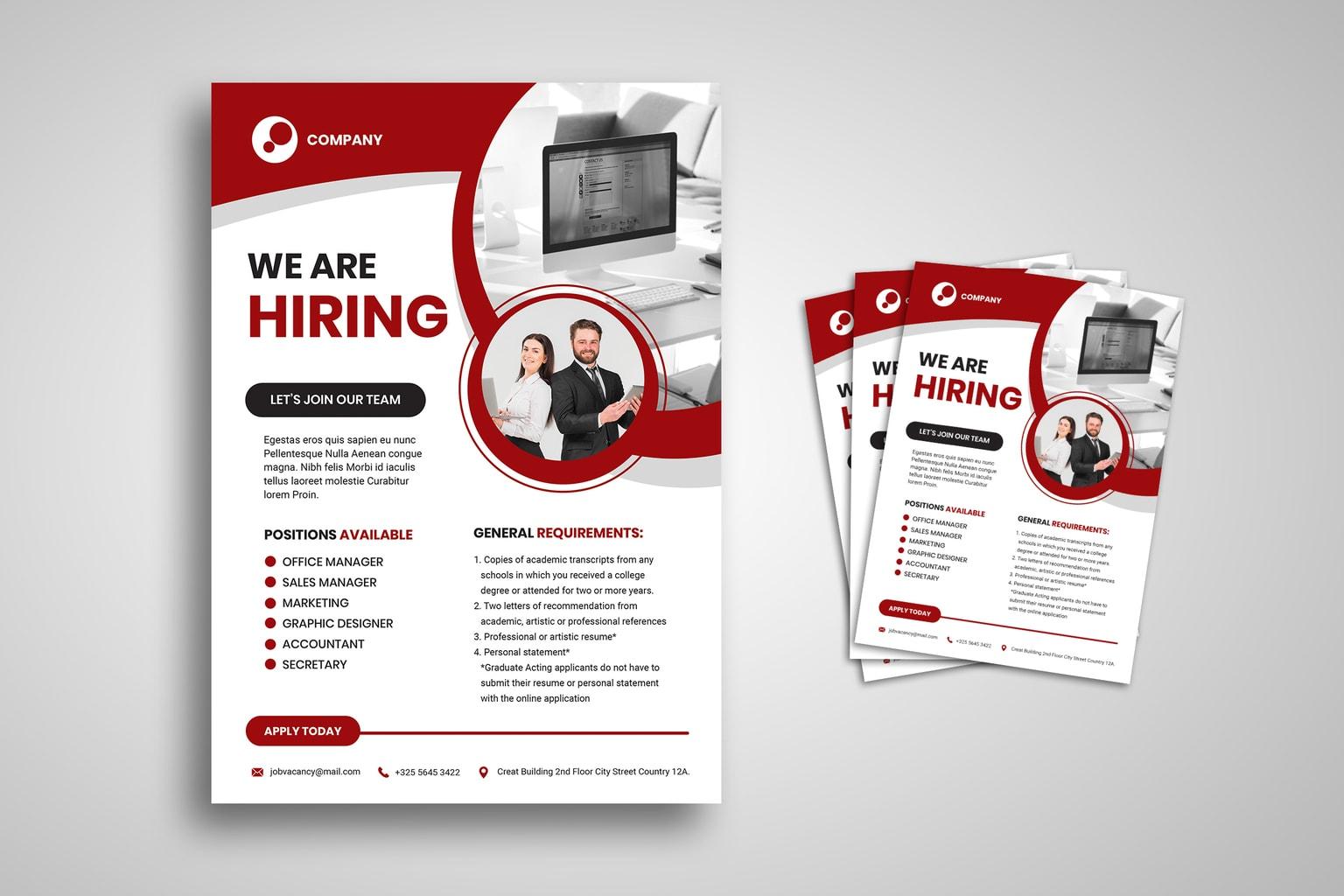 flyer professional hiring