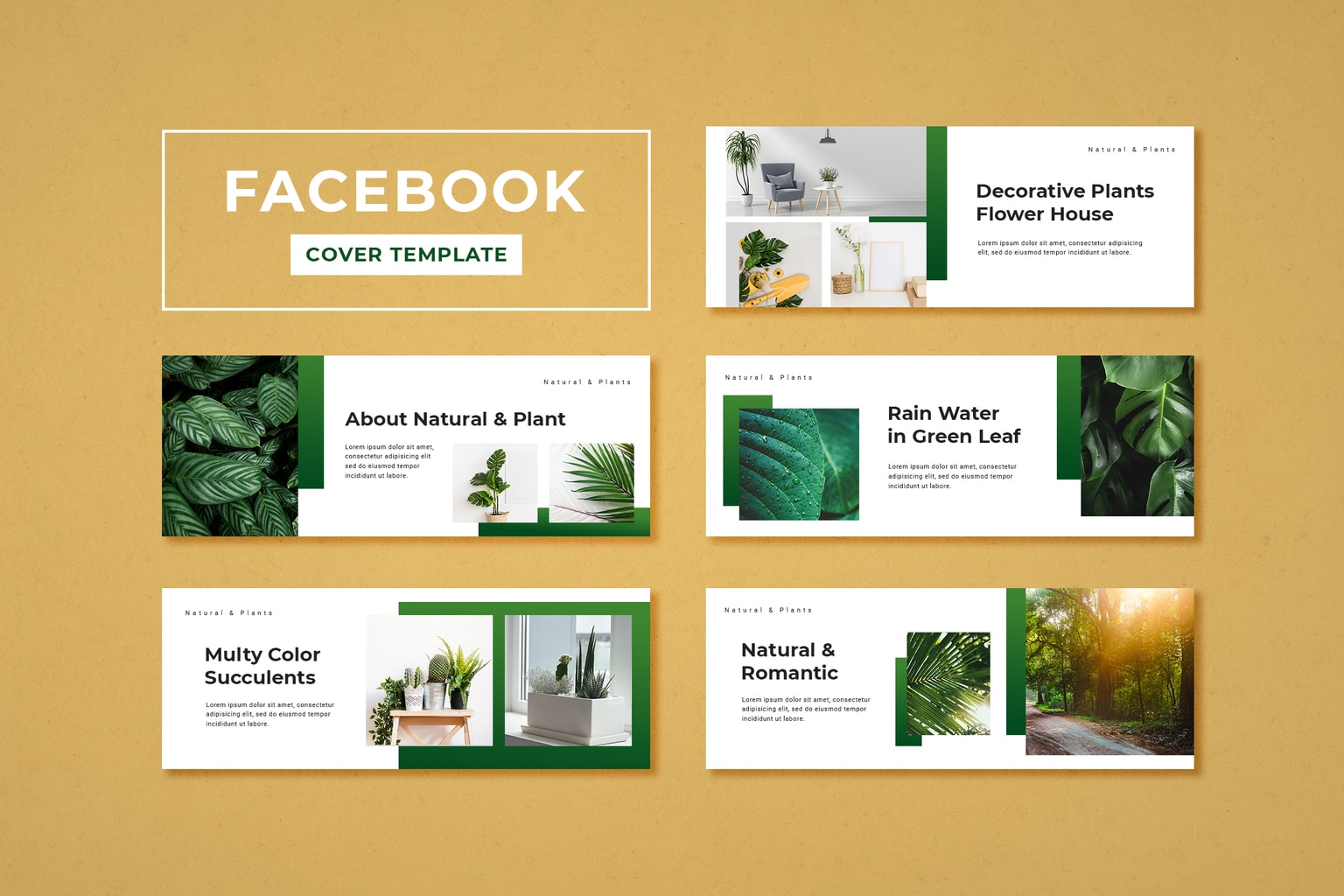 facebook cover decorative flower house