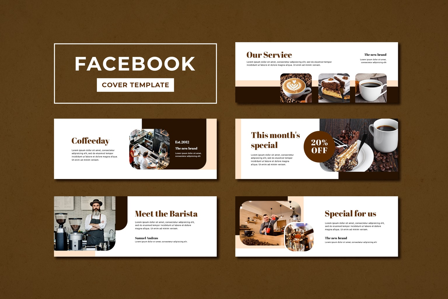 facebook cover daily special coffee