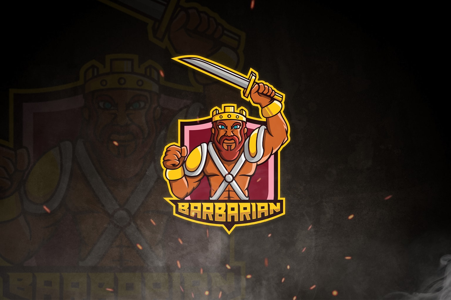esport logo barbarian fighters