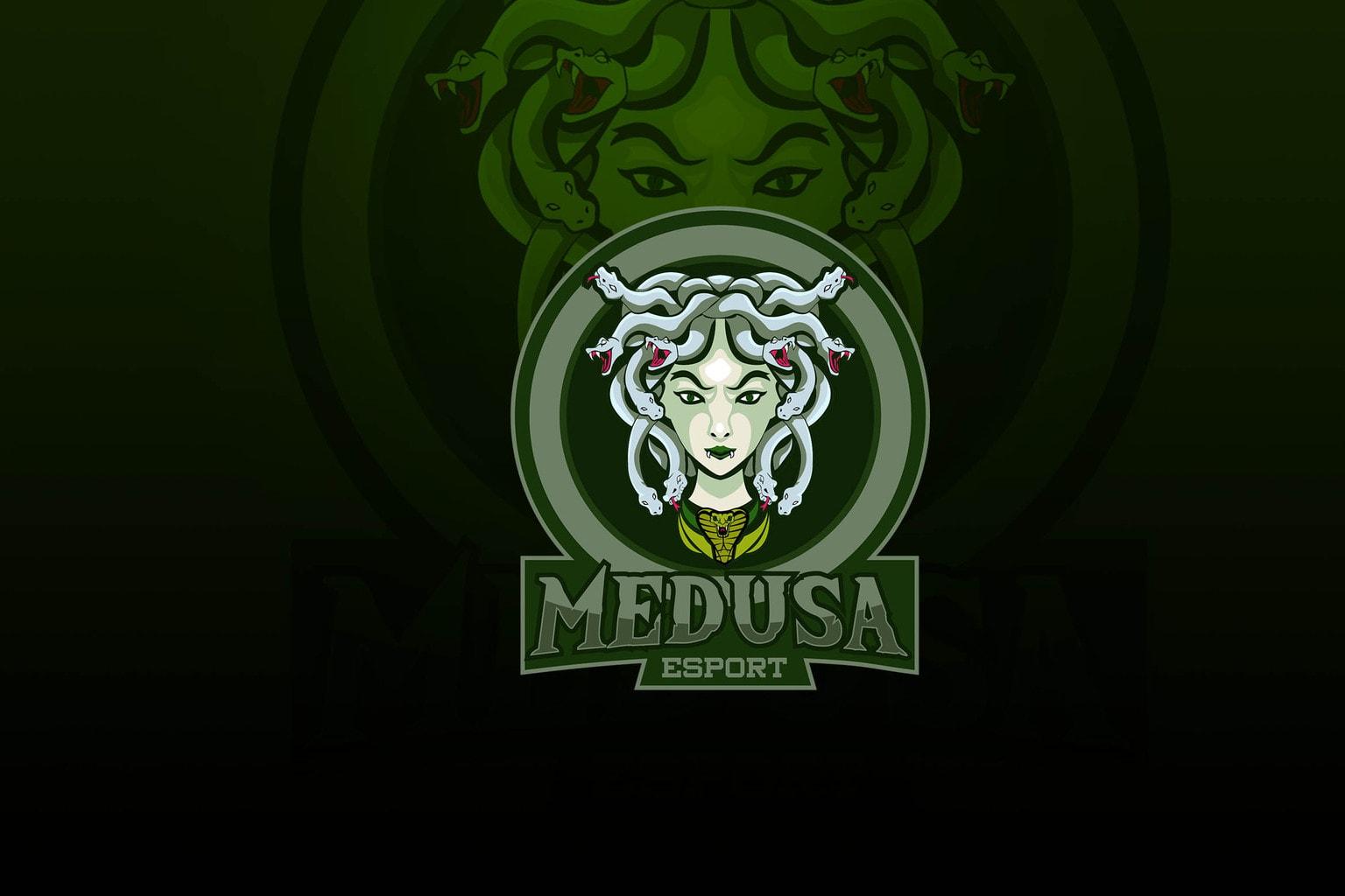 esport logo queen of medusa
