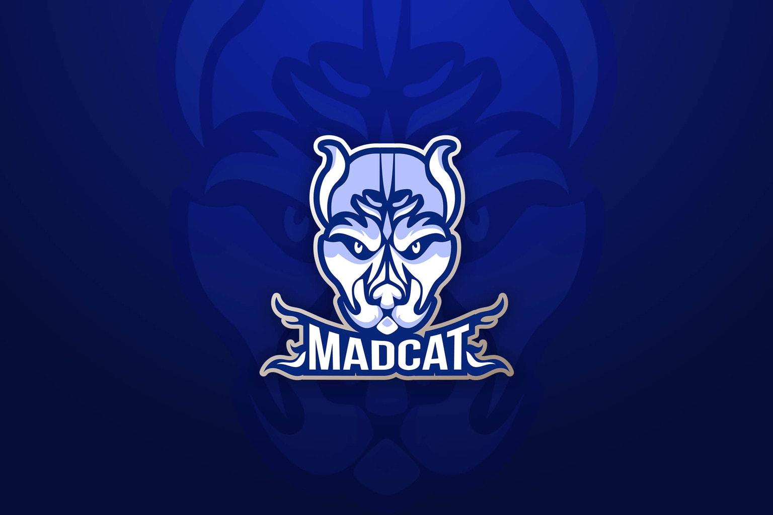 esport logo blue madcat