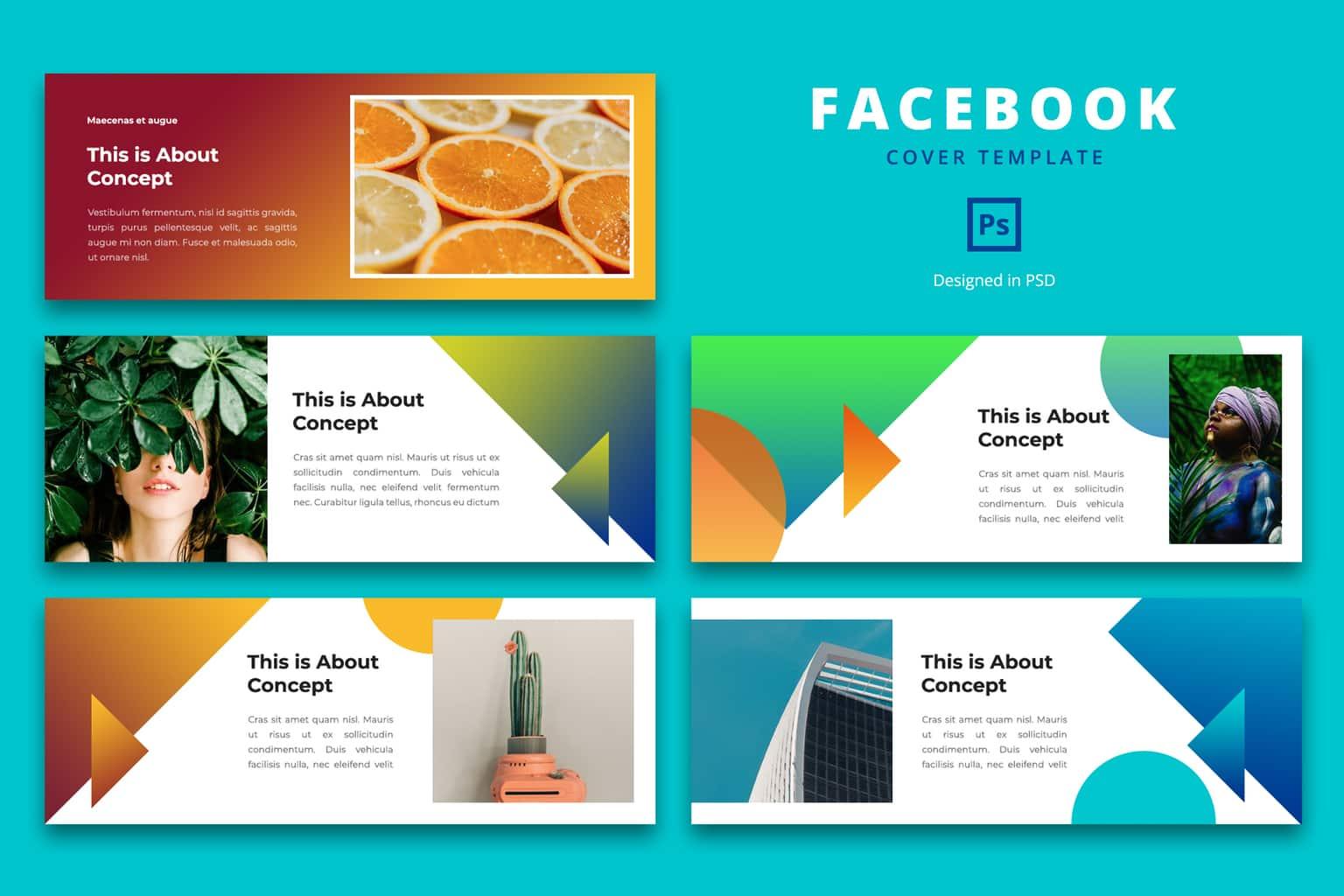 facebook cover creative idea concept