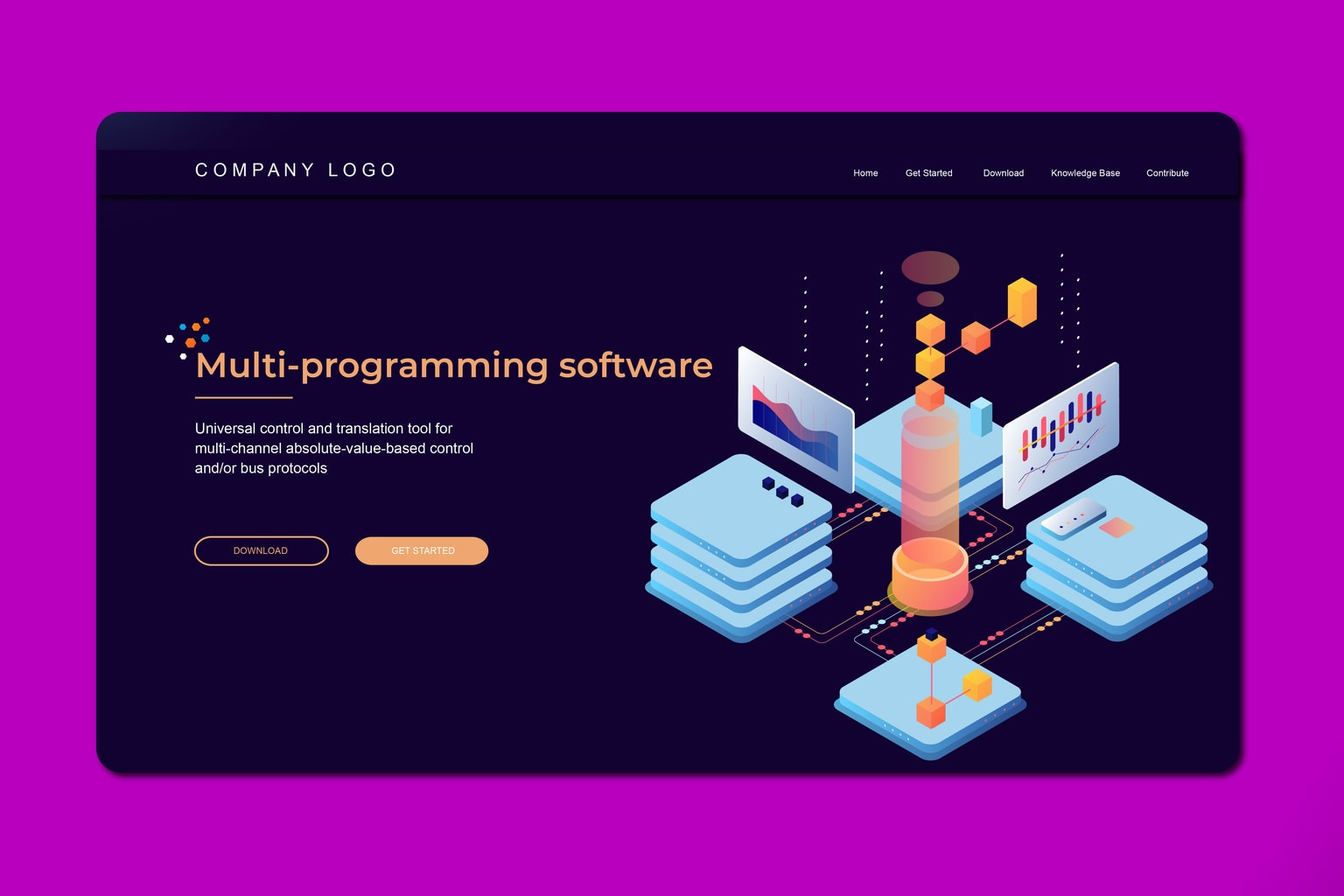 isometric landing pages programming service