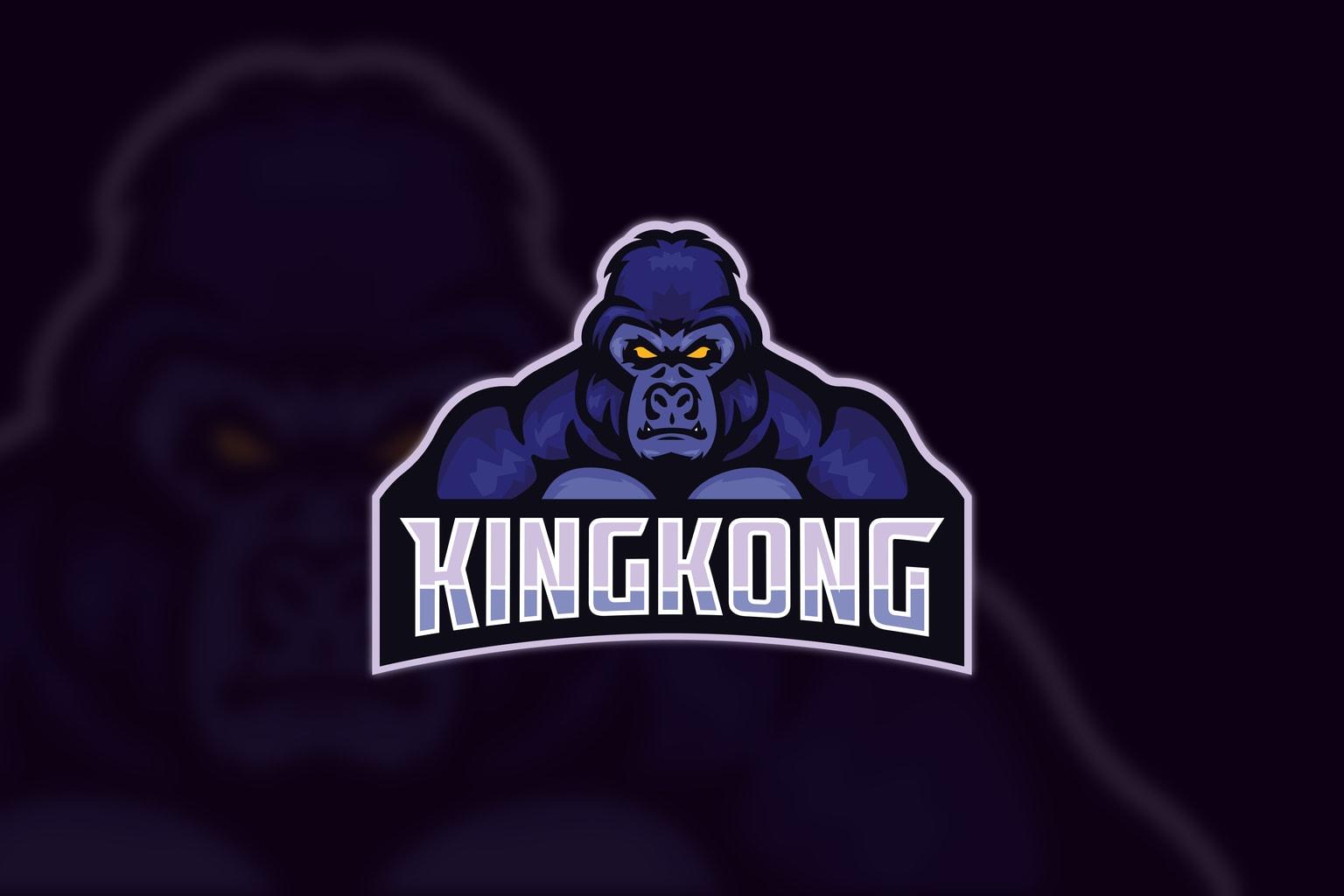 esport logo mad kingkong