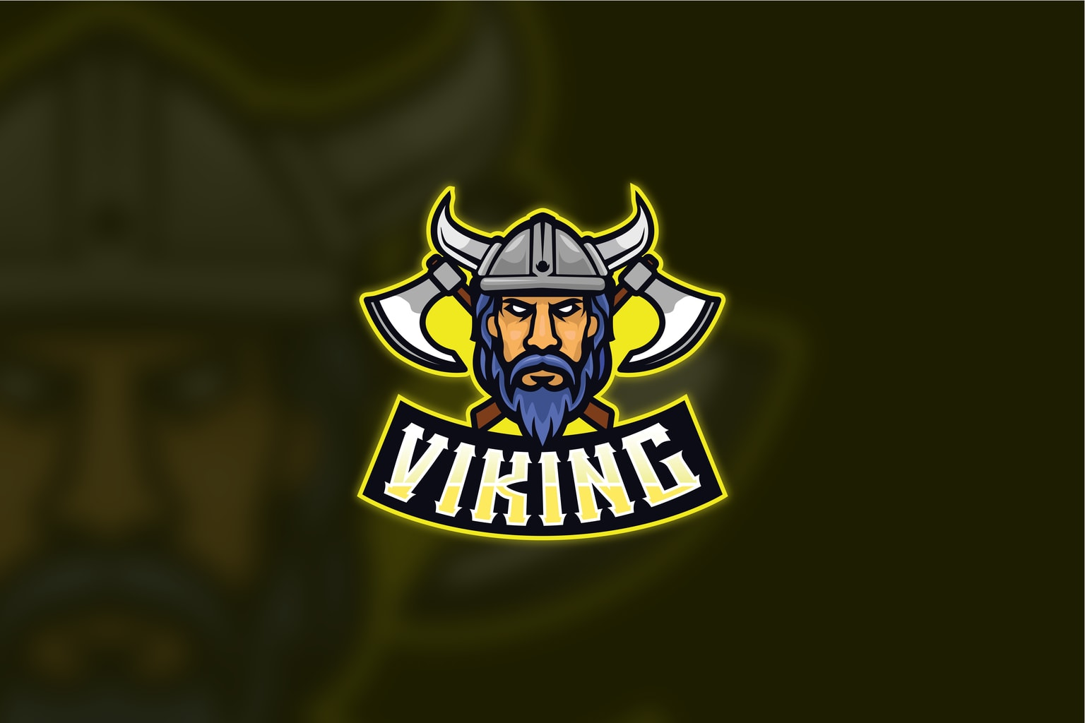esport logo viking tribe