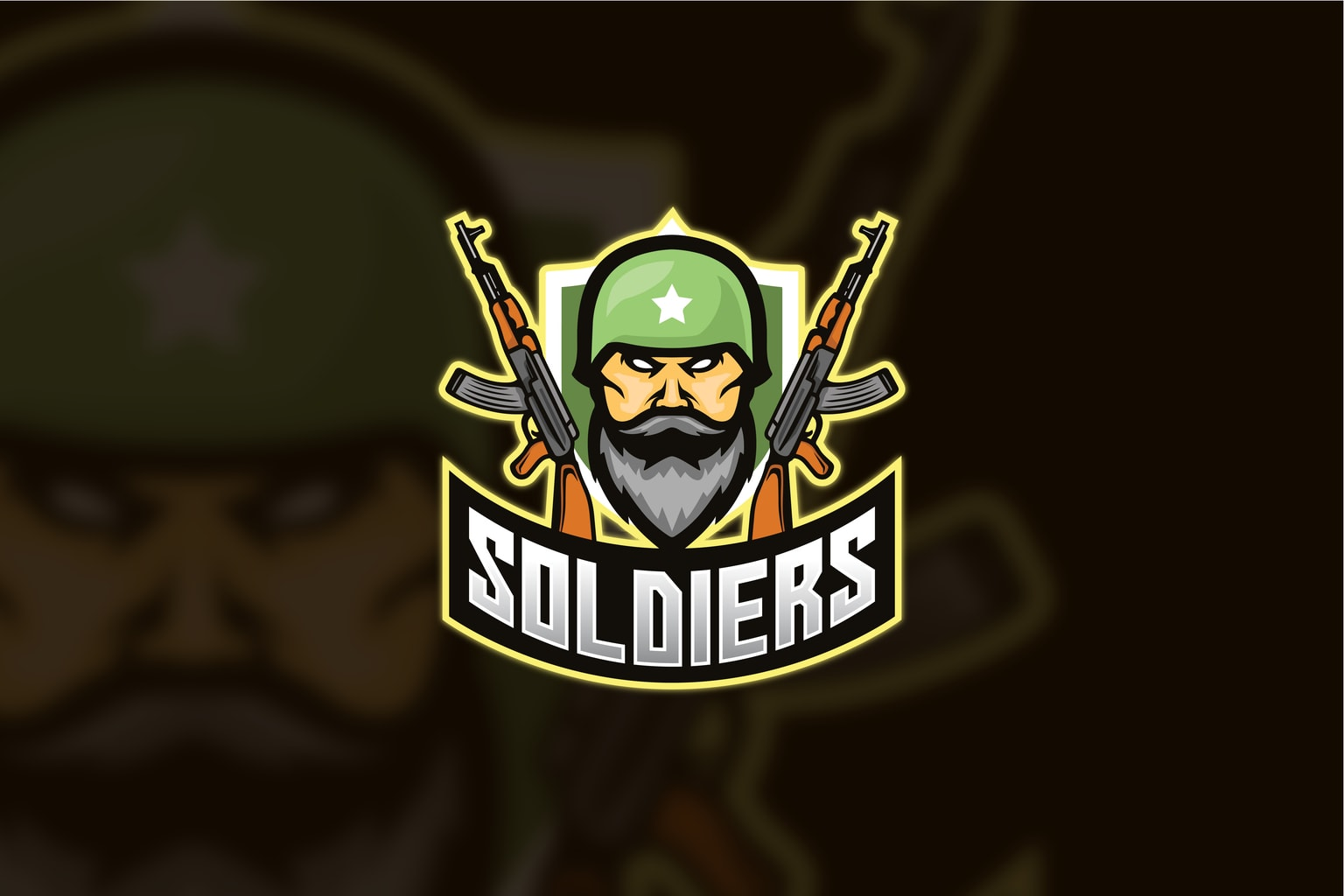 esport logo armed soldiers