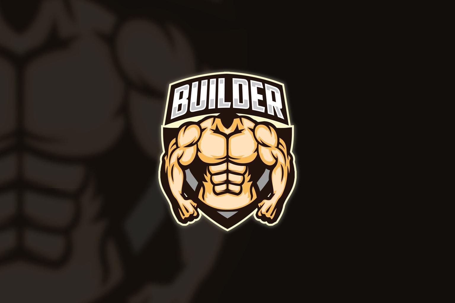 esport logo muscle builder