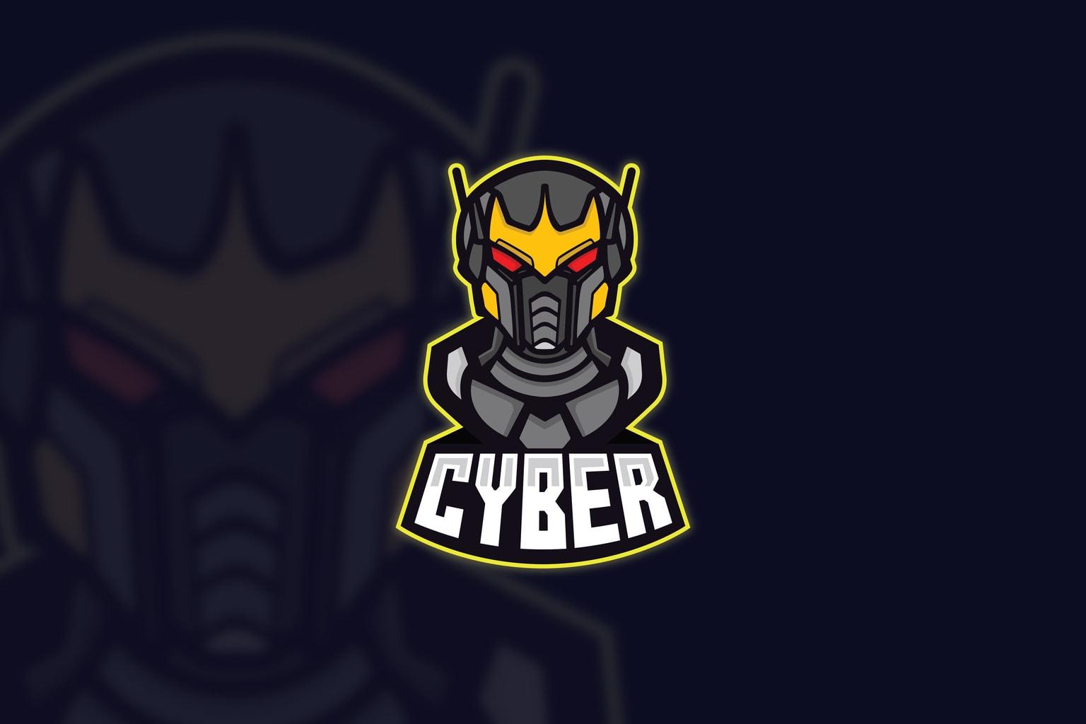 esport logo cyber network