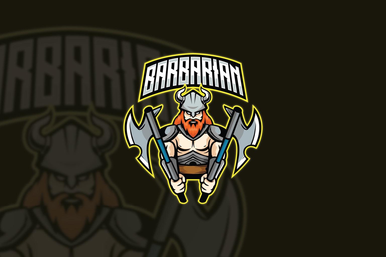 esport logo barbarian squad