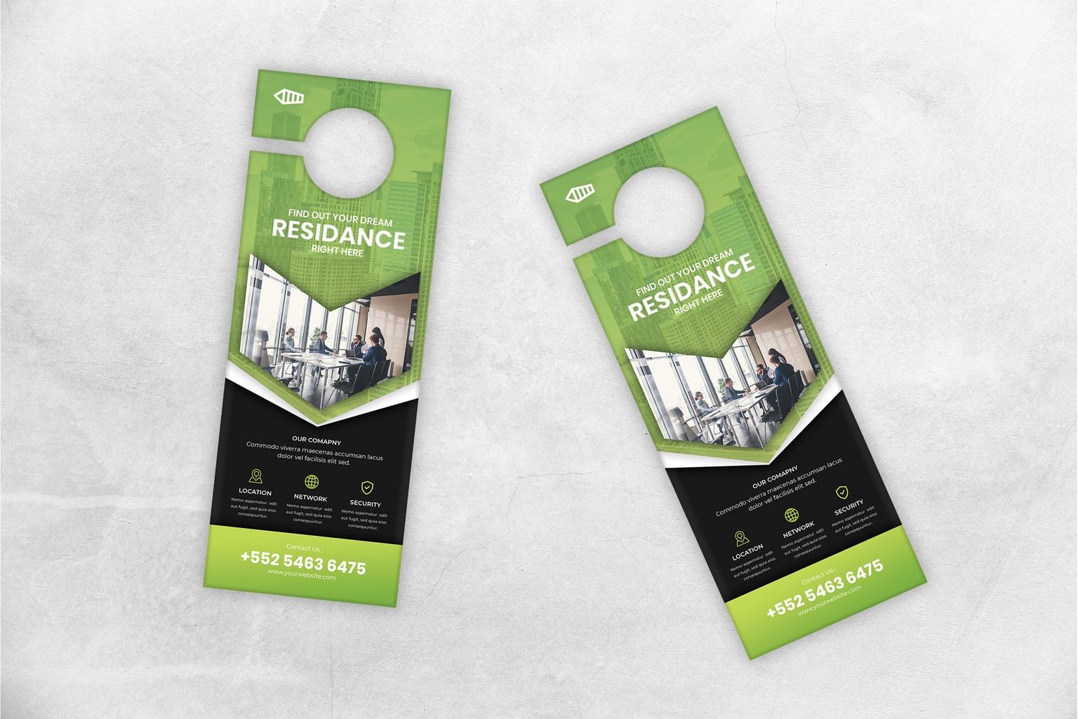 door hanger residence marketing
