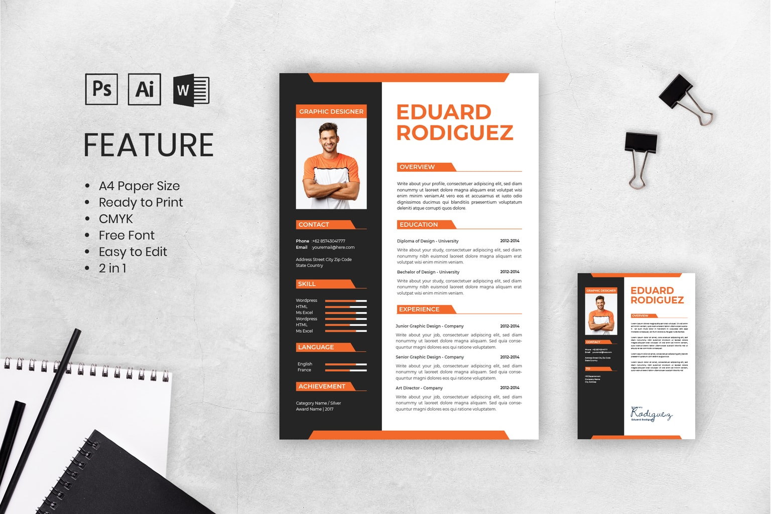 cv resume content graphic design