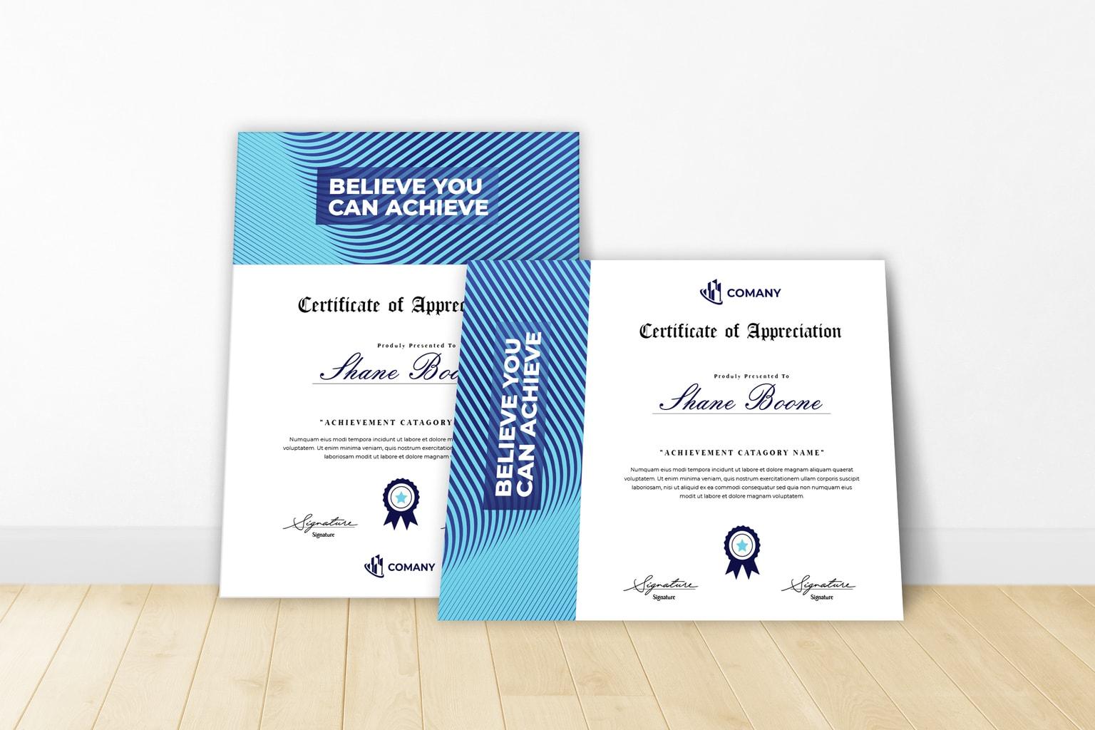 certificate achievement of trust 1