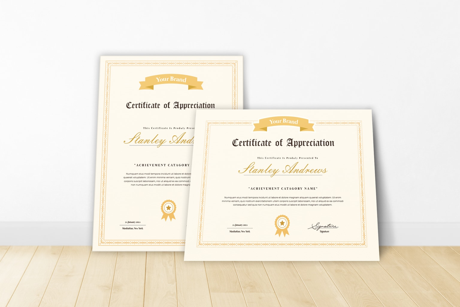 certificate brand recognition