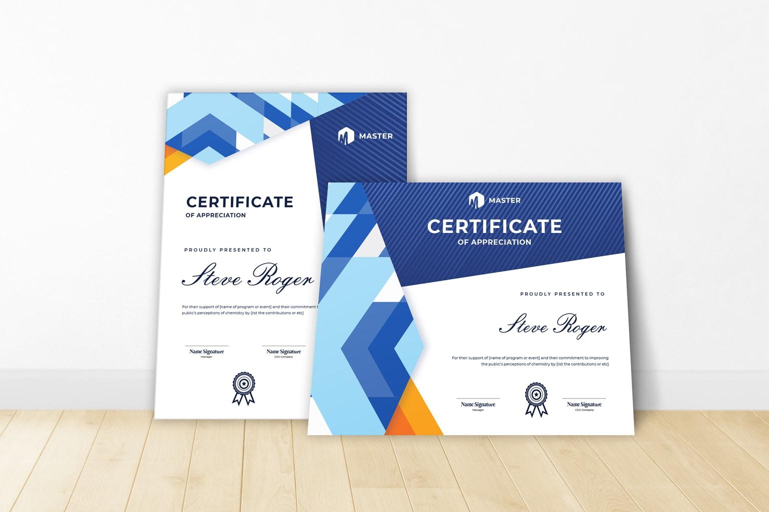 certificate honorary achievement