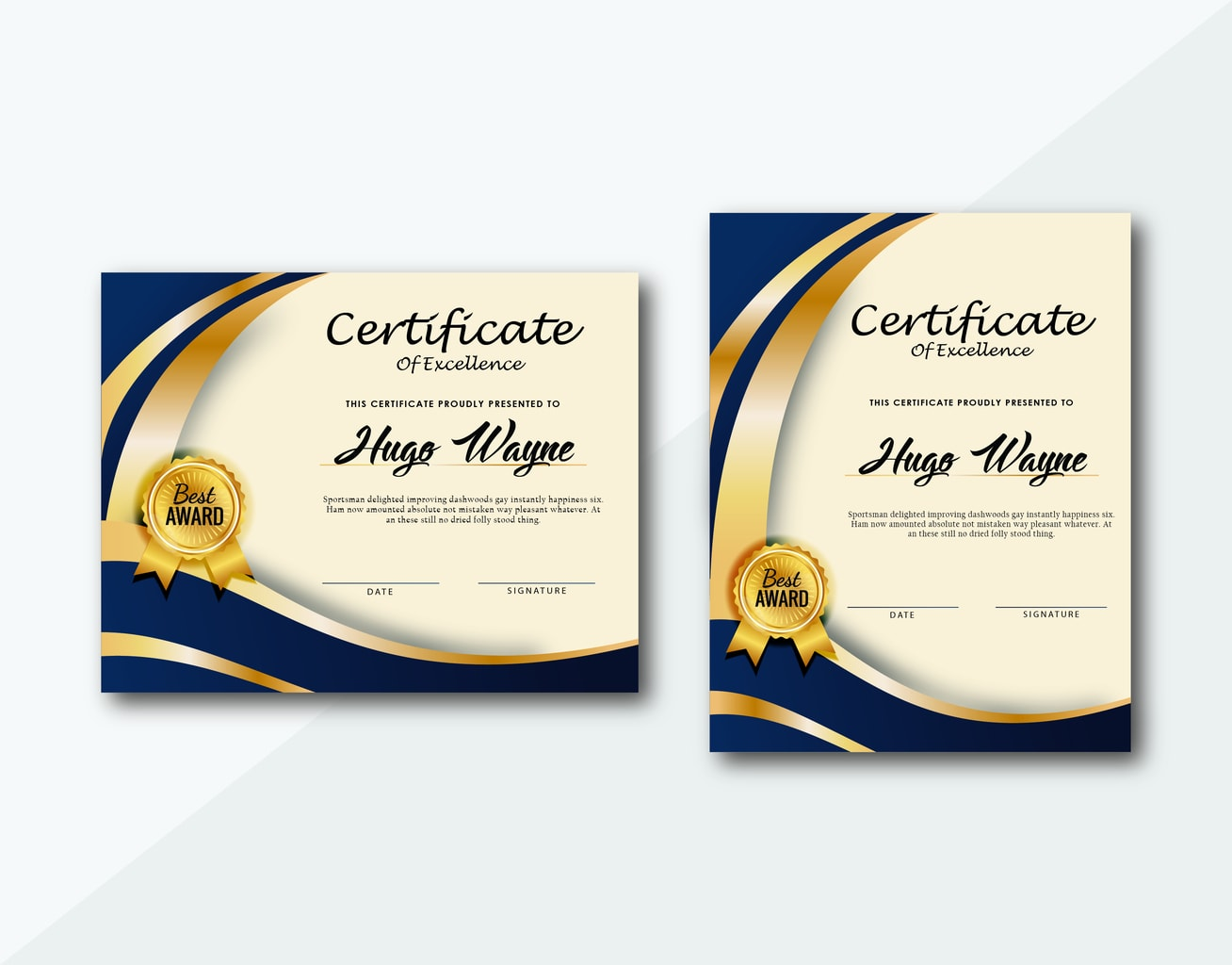 certificate ceremonial awards