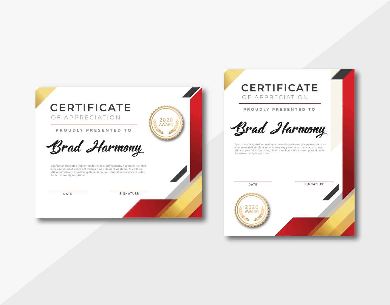 certificate proud awards