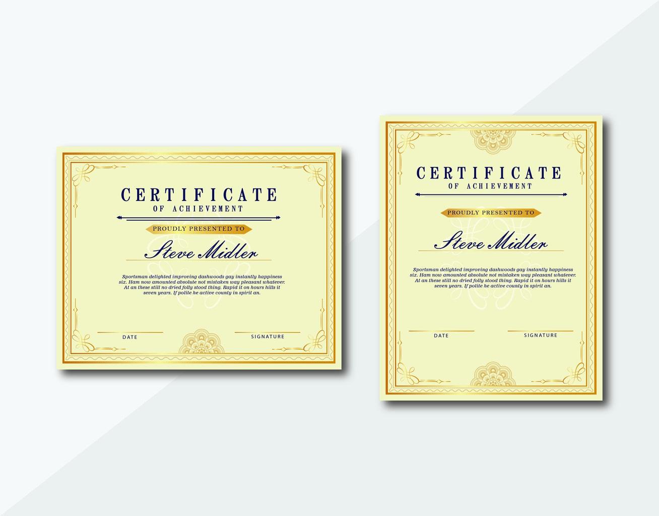 certificate memories awards