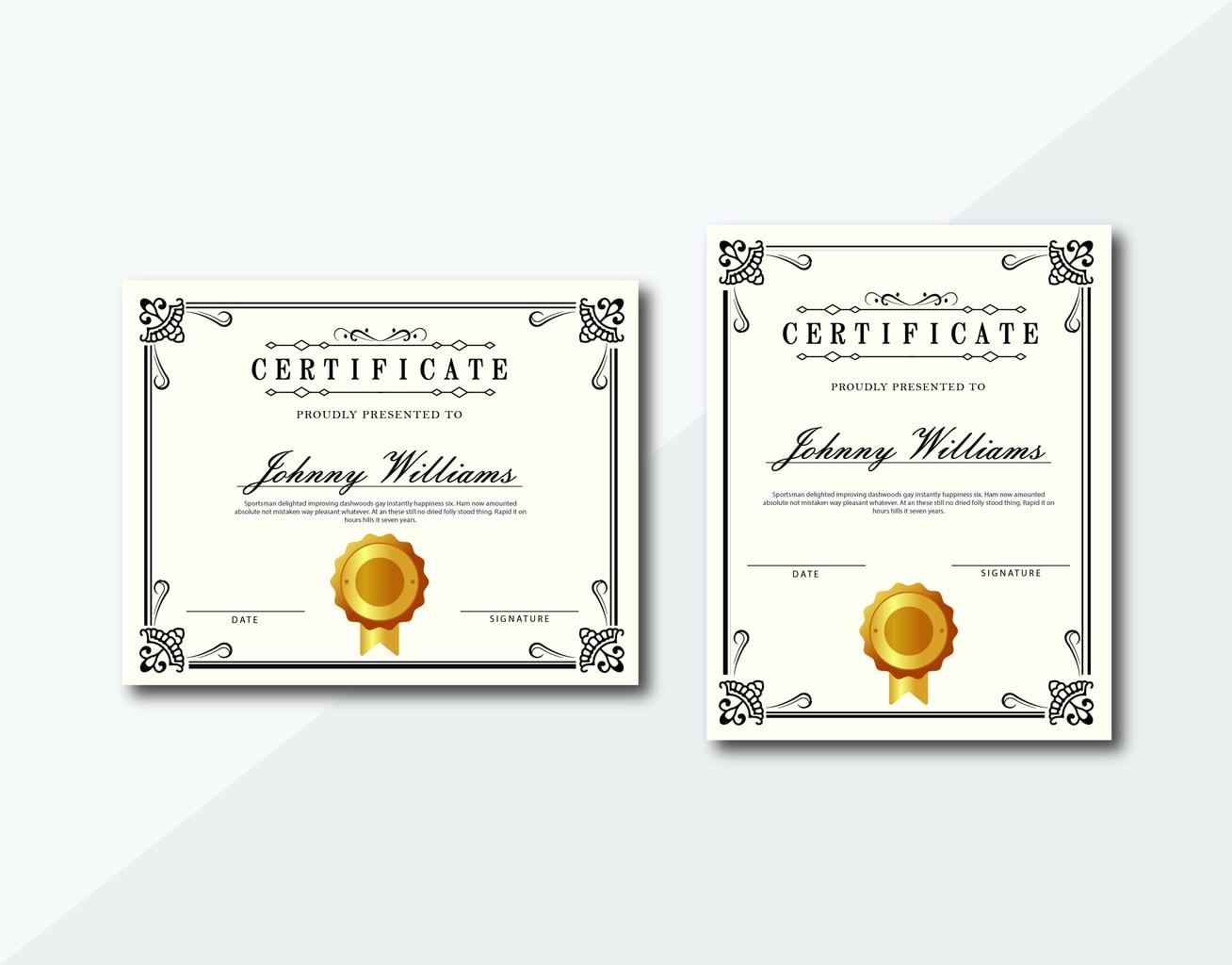 certificate classic motive