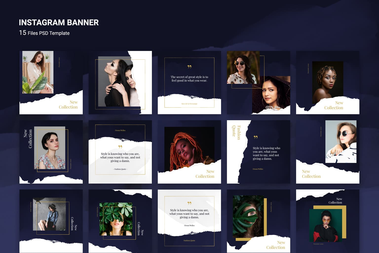 instagram banner great fashion style
