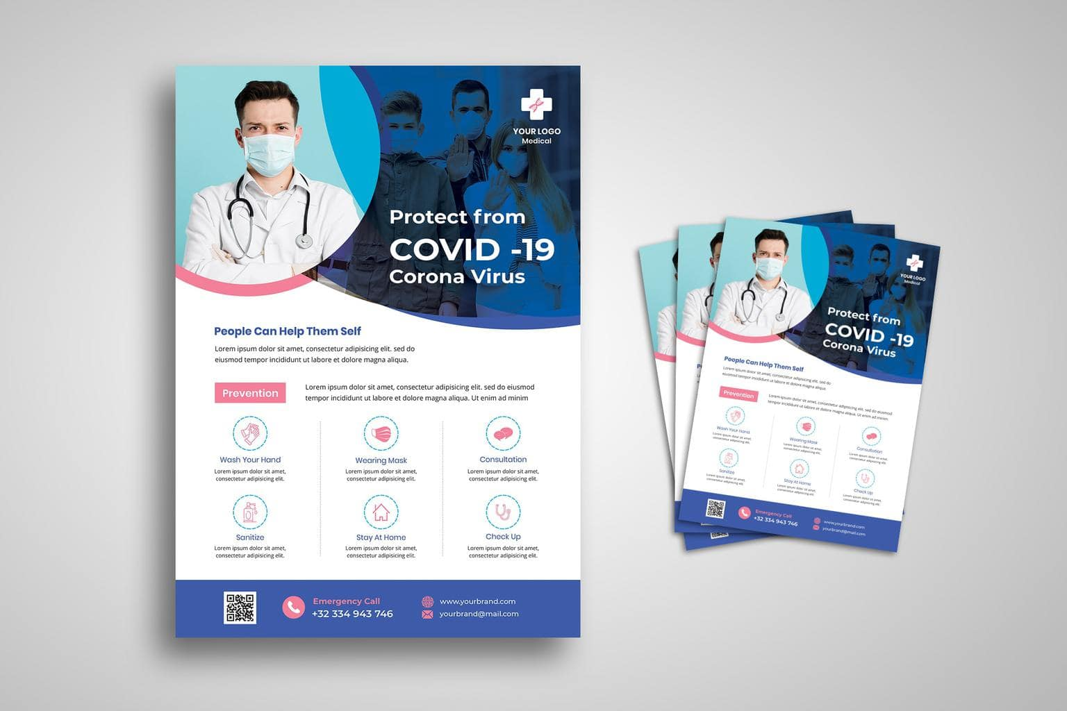 flyer covid 19 test procedure