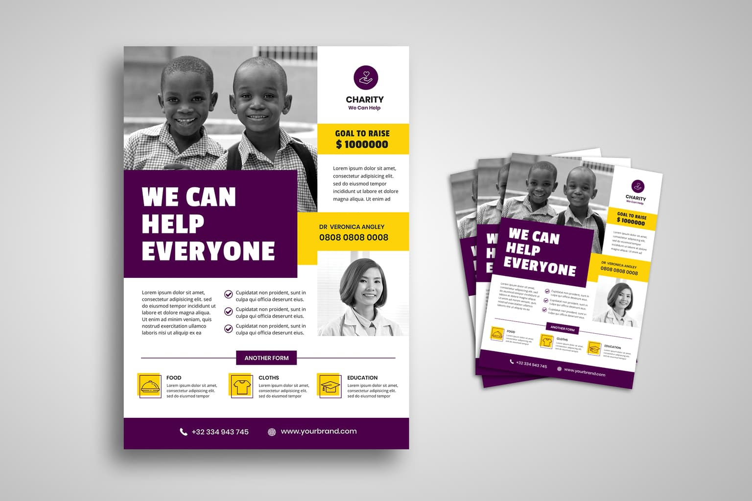 flyer template charity for everyone 1