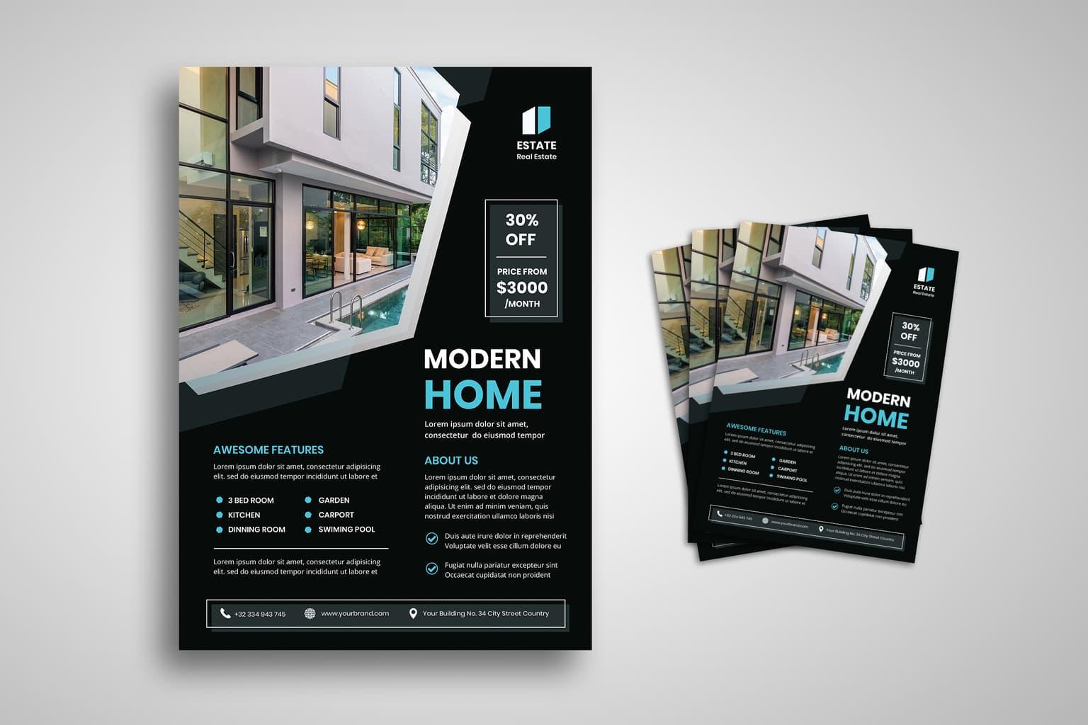 flyer modern style home 3